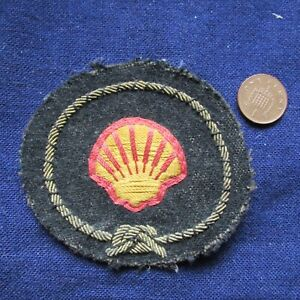 OLD MERCHANT NAVY HAT BADGE (SHELL)