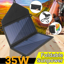35W Folding Solar Panel DC5V USB Portable Power Charger Camping Travel Battery