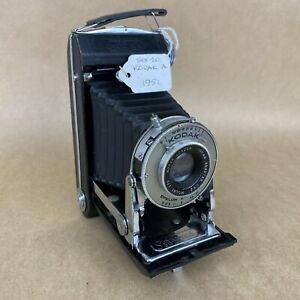 Kodak Six-20 A 1951 Folding Camera W/ 100mm Anastar London Lens