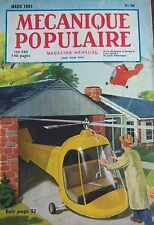REVUE MECANIQUE POPULAIRE N° 058 HELICOPTERE PONT AERIEN ORIENT BOMBES 1951