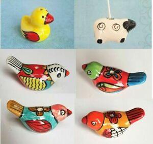 Ceramic Bird Duck or Sheep Light Pull Bathroom & Kitchen Fans
