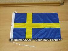 Fahnen Flagge Schweden Bootsfahne Tischwimpel - 30 x 45 cm