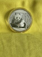 2015 China PANDA BEAR 1oz SILVER 10 Yuan coin GEM BU Last Year of 1oz Panda's
