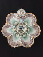 ANTIQUE CIRCA 1890 FRENCH ST CLEMENT KELLER et GUERIN OYSTER PLATE