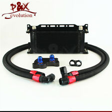 For BMW Mini Cooper S R53 Supercharger AN10 16 Row Oil Cooler w/ Bracket Kit