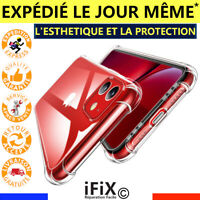 COQUE SILICONE ANTICHOC TRANSPARENTE IPHONE SE 2020 /6 /6S /7 /8 /X /XR /XS /11