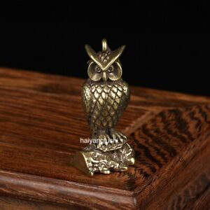 2 pcs wholesale Chinese pure copper Casting owl Small crafts Pendant 猫头鹰
