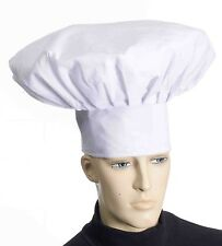 Funny JUMBO DELUXE CHEF HAT White Cook Baker Adult Cap Clown Big Cloth BBQ Gift