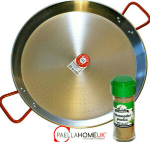 40cm PAELLA PAN PROFESSIONAL POLISHED CARBON STEEL + AUTHENTIC SPANISH GIFT