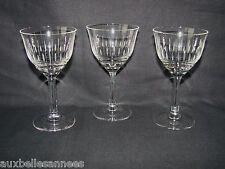ANCIEN VERRE A PIED x 3 / EAU VIN RAISIN VIGNE CAVE ALCOOL BOISSON OLD GLASS