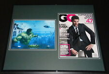 Eric Bana HULK Signed Framed 16x20 GQ Magazine & Photo Set