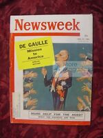 NEWSWEEK April 25 1960 4/25/60 FRANCE CHARLES DE GAULLE
