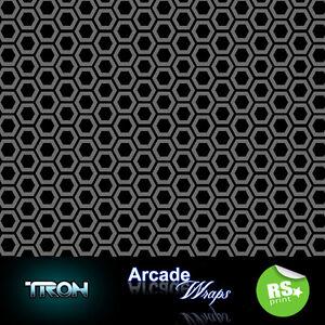Tron  HEX PATTERN Arcade Machine Artwork  Wrap sticker Retro Game Theme Lrg