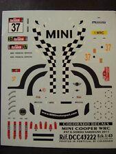 DECALS 1/43 MINI COOPER WRC - #37 - D.SORDO - SARDAIGNE 2011   - COLORADO  43222