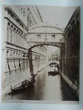Photo 19 ème - Italie - Italy - Venise Venice - Pont des Soupirs - P Salviati