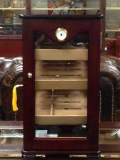 Beautiful 75-100 Cigar Mahogany Upright Counter Display 5 Glass Humidor