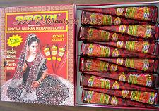 Henna Mehandi Mehendi Cones Pure & Genuine, 12 Pieces by AFRIN (Since 1880)