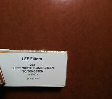 "Lee Filters L232 Super White Flame Green 2 Tungsten Lighting Gel Sheet  21"" x24"""