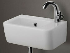Alfi AB101 Small Wall Mounted Ceramic Bathroom Sink Basin White