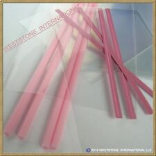 "50pcs (6"" Pink Lollipop Stick + Bag + Twist Tie) for cake pops Lollipop Candy"