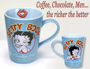 """New - Betty Boop """"The Richer the Better"""" 14 oz  Collectible Coffee Mug by Vandor"""