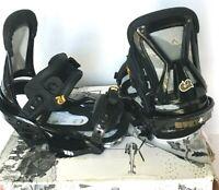 $440 Burton CO2 EST Snowboard Bindings NIB Sz S Mens Black Channel Board