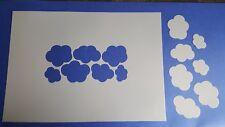 462 Schablonen Wolken Vintage Stanzschablone Shabby Stencil Wandtattoos Wandfoto