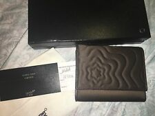 NEW MONTBLANC Brown Fabric Starisma Dallia Wallet 6cc Compact Purse 103806 Italy