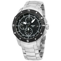 Tissot T0624271105700 Men's Stainless Steel Black  Automatic Chronograph Watch