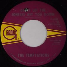 THE TEMPTATIONS: Don't let the Joneses Get / Since I've Lost You GORDY 45 Soul