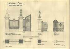 1908 Marble Arch Improvement Plans Royal Carriage Gates Hawke