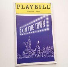 Playbill On The Town 1998 Jesse Tyler Ferguson Gershwin Theatre Broadway