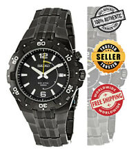Seiko Kinetic SKA447P1 Men Black Dial Black Stainless Steel Ion-Plated Watch
