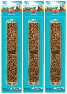 (3 Pack) Kaytee Forti-Diet Pro Health Canary & Finch Honey Treat Stick, 4oz Each