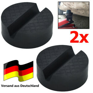 2 Wagenheber Gummiauflage für Rangierwagenheber Gummipuffer Wagenheber Universal