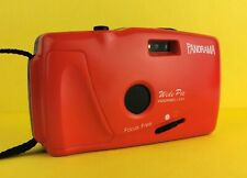 Panorama Wide Pic, Point & Shoot 35mm Compact Film Camera, Case, Lomography RED