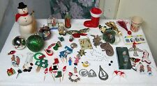 Large Lot Vintage Plus Christmas Decorations Ornaments Crafting Items 55+ Pieces
