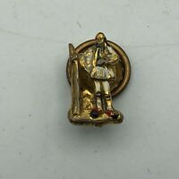 Antique Soldier Screw Back Lapel Pin Apollo Jewelry Mfg NY Enamel Unsure Vtg  R4