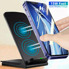 15W Qi Wireless Fast Charger Charging Stand For iPhone 12 Pro Max Galaxy Note 20