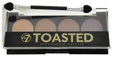 w7 Toasted Eyeshadow Palette - Nude Natural Browns 4 Shade Eye Shadow