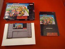 Super Mario Kart (Super Nintendo SNES 1992) COMPLETE Box manual game WORKS! Cart