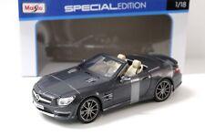 1:18 Maisto Mercedes SL65 AMG Cabriolet matt grey NEW bei PREMIUM-MODELCARS