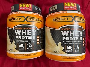 2-Pack Body Fortress Super Advanced Whey Protein Powder, Vanilla, 2 Pound