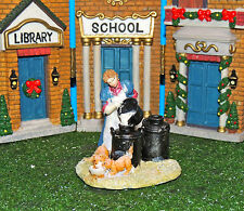 FARMER GIRL  WITH KITTY POURING MILK INTO BLACK MILK CHURNS 1:24 (G)SCALE