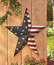 Metal Star Outdoor Decor 2 Feet Wide American Stars and Stripes House Decor