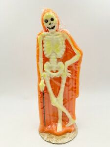 NOS VINTAGE AUTHENTIC GURLEY HALLOWEEN SKELETON CANDLE