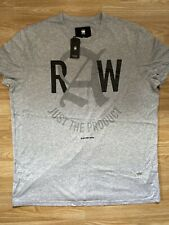 G Star New Mens Relaxed Fit Grey XXL T Shirt RRP £25