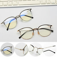 Radiation Protection Retro Metal Frame Computer Goggles Anti-blue Light Glasses