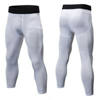 Mens Compression Pants Base Layer Leggings Gym Running Fitness Jogging Trousers