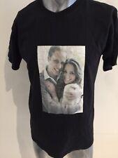 Prince William Princess Kate Middleton T-Shirt Distressed Cracked Engagement LG